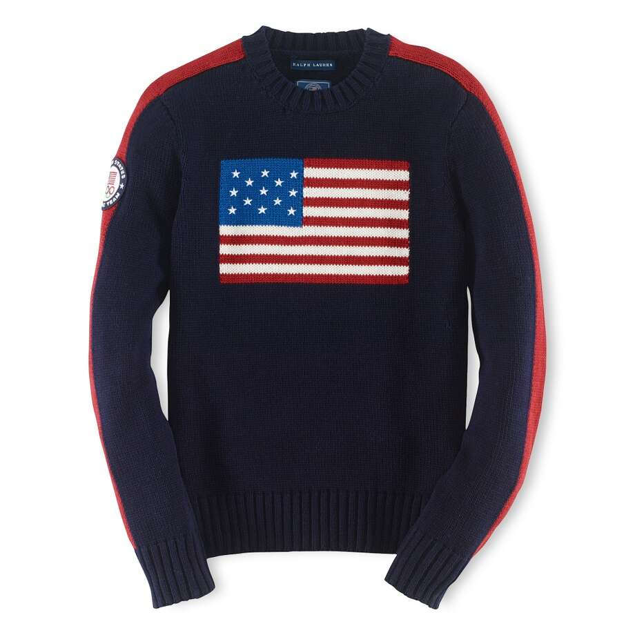 Ralph Lauren's Team USA flag sweater ($295) Photo: Ralph Lauren