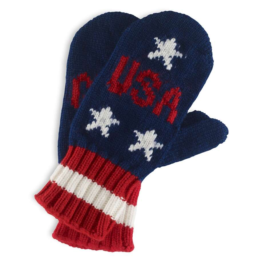"Ralph Lauren's Team USA ""go for gold"" mittens ($98) Photo: ANDREW DE FRANCESCO/VANESSA MORA, Ralph Lauren"