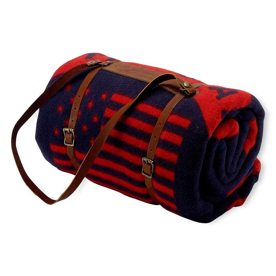 Ralph Lauren's Team USA blanket harness ($250) Photo: Peter Meretsky, Ralph Lauren