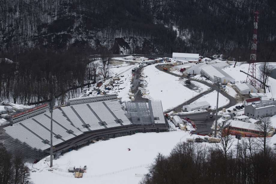 A view of the Laura Cross-country Ski & Biathlon Center in Sochi, Russia. The Black Sea resort of Sochi will host the Winter Games Feb. 7-23. (AP Photo/Pavel Golovkin) Photo: Pavel Golovkin, Associated Press