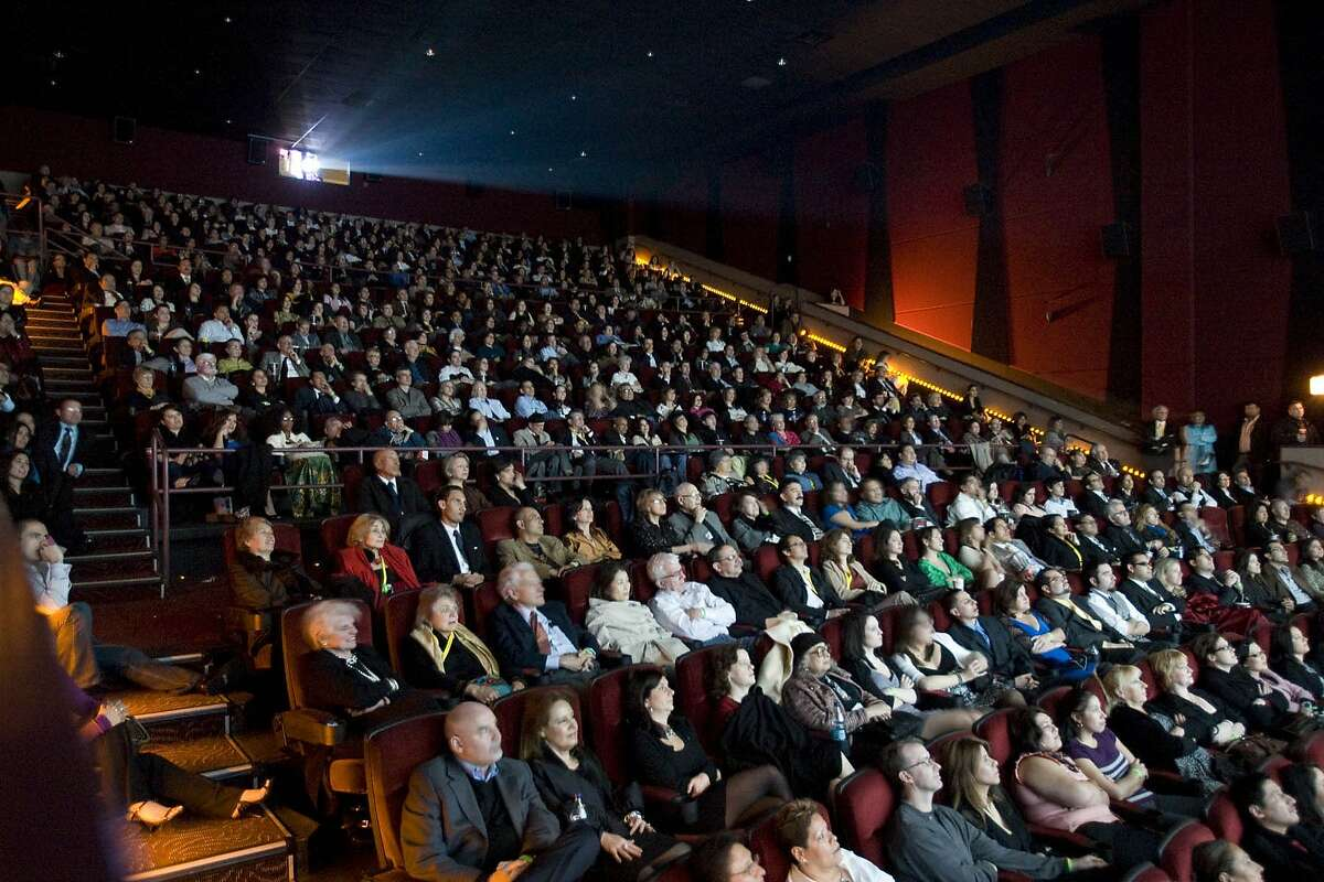 Movie theater audience.