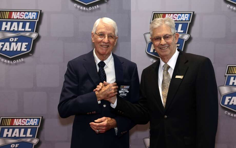 Leonard Wood (left)  Class of 2013  The innovator of the modern pit stop, Wood served as the crew chief for 96 race wins. Photo: Bob Leverone, Associated Press