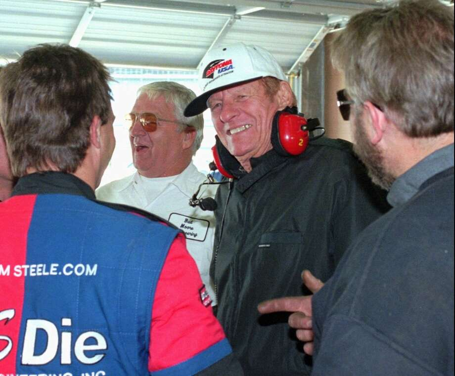 Bud Moore (center)  Class of 2011  The three-time Cup champion won 63 races. Photo: Gene Blythe, Associated Press