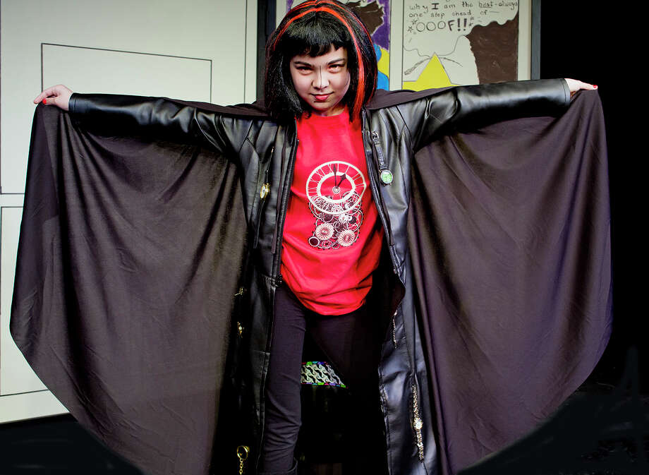 "Nicaya-Isabella Rios a€"" Super Villain Dr. Shock Clock with her special power is to Freeze Time. Photo: Joseph Schuyler / @Joseph Schuyler"