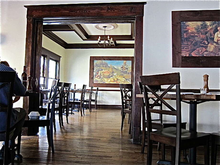 The dining room at 219 Westheimer in its Feast incarnation.