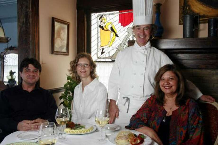 Lionel Guy, fiancee Farah Murray, Georges Guy & Monique Guy at Chez Georges, 2006. Photo: Alison Cook