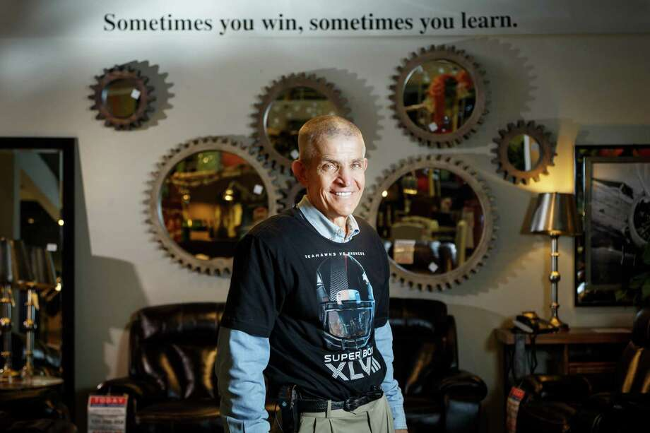 "Jim ""Mattress Mack"" McIngvale, owner of Gallery Furniture, poses for a photo in his store, Friday, Jan. 24, 2014, in Houston. ( Michael Paulsen / Houston Chronicle ) Photo: Michael Paulsen, Staff / © 2014 Houston Chronicle"