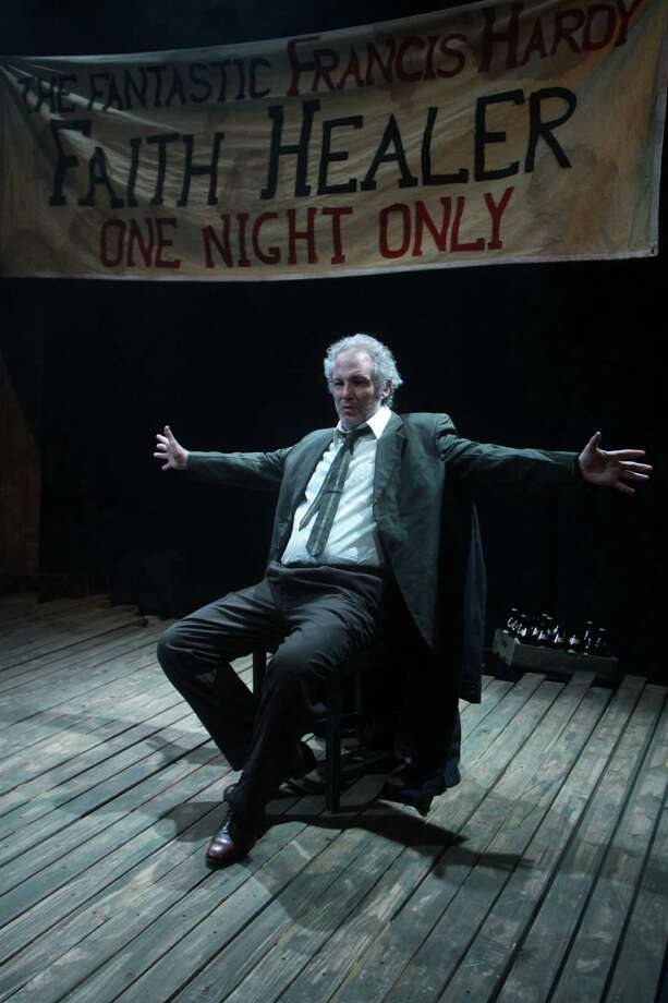 """(For the Chronicle/Gary Fountain, January 19, 2014) Philip Lehl as Frank Hardy, in this scene from Stark Naked Theatre's production of Brian Friel's """"Faith Healer."""" Photo: Gary Fountain, Freelance / Copyright 2014 Gary Fountain."""