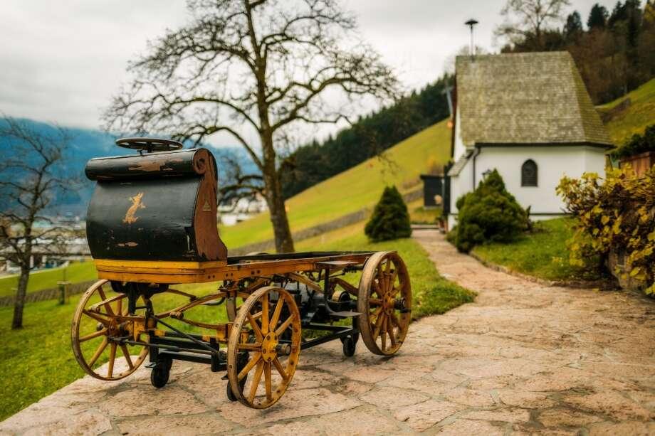 The Phaeton, Ferdinand Porsche's first design, was recently found in a warehouse in Austria. Photo: Courtesy Porsche