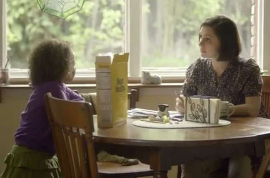 They fictional family that features a black dad, white mom and their daughter was featured in an ad last year that made headlines after it sparked ugly comments online. But the negative remarks were followed by an outpouring of support. Photo: New York Times / HANDOUT