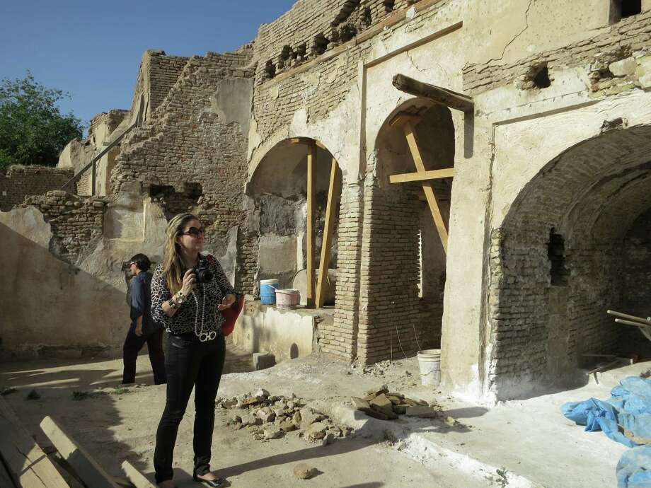 UTSA professor Angela Lombardi visits the ancient site of the Erbil Citadel in Southern Kurdistran in Iraq. Photo: Courtesy, UTSA Center For Cultural Sustainability