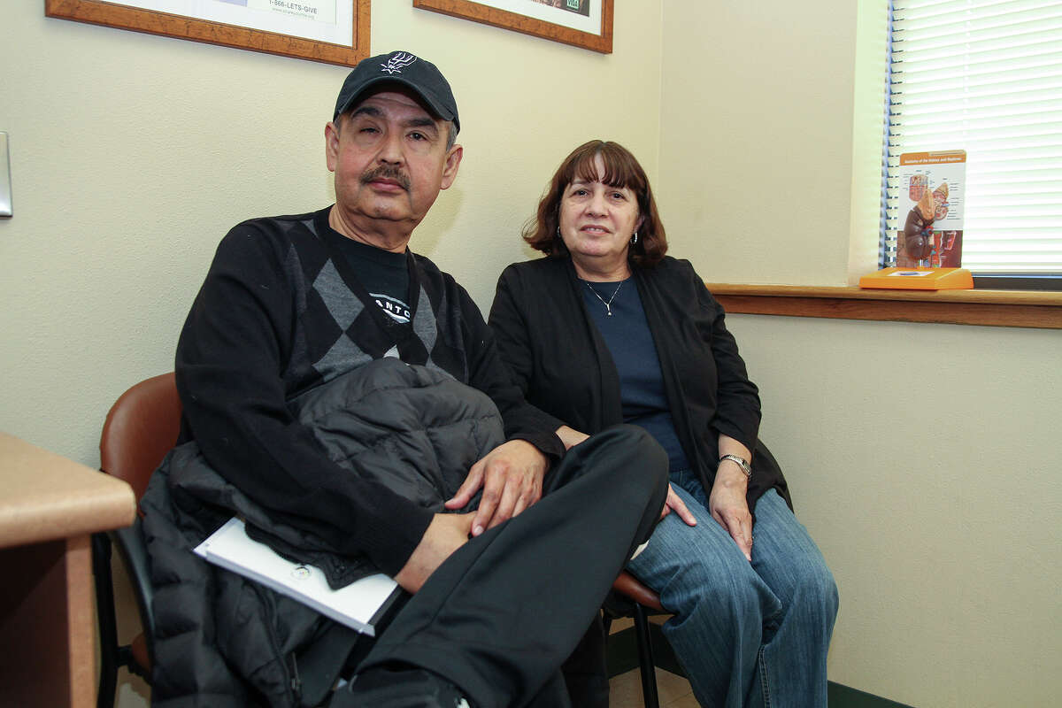 John Saucedo and his wife Gloria ravelled from Laredo, Tx., for the transplant this week at the Methodist Specialty and Transplant Hospital. Married for 32 years, Gloria is a donor so her husband can recieve a kidney.