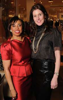 Honoree Phyllis Williams with Hall of Fame member Phoebe Tudor at the Houston Chronicle's Best Dressed Announcement Party at Neiman Marcus Wednesday Jan 29, 2014.(Dave Rossman photo) Photo: Dave Rossman, For The Houston Chronicle / © 2013 Dave Rossman