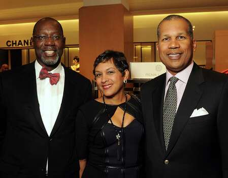 From left: Cornel Williams, Allison Smith and Kevin Smith at the Houston Chronicle's Best Dressed Announcement Party at Neiman Marcus Wednesday Jan 29, 2014.(Dave Rossman photo) Photo: Dave Rossman, For The Houston Chronicle / © 2013 Dave Rossman