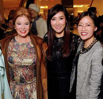 From left: Cindi Rose, honoree Mandy Kao and Issa Chou at the Houston Chronicle's Best Dressed Announcement Party at Neiman Marcus Wednesday Jan 29, 2014.(Dave Rossman photo) Photo: Dave Rossman, For The Houston Chronicle / © 2013 Dave Rossman