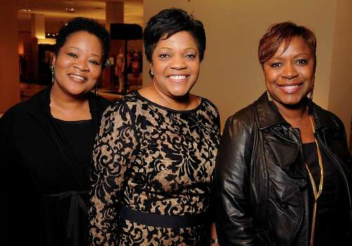 From left: Iris Allen, Angela Sterling and Donna Gant at the Houston Chronicle's Best Dressed Announcement Party at Neiman Marcus Wednesday Jan 29, 2014.(Dave Rossman photo) Photo: Dave Rossman, For The Houston Chronicle / © 2013 Dave Rossman