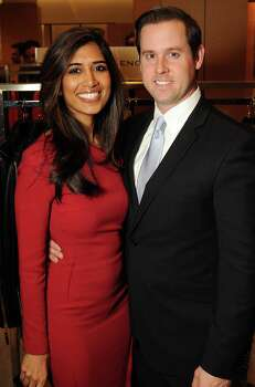 Honoree Divya Brown and her husband Chris  at the Houston Chronicle's Best Dressed Announcement Party at Neiman Marcus Wednesday Jan 29, 2014.(Dave Rossman photo) Photo: Dave Rossman, For The Houston Chronicle / © 2013 Dave Rossman