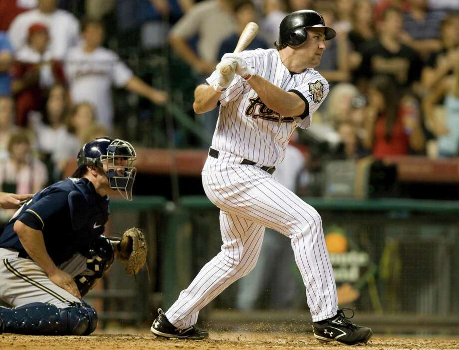 Among switch hitters, Lance Berkman ranks second only to Mickey Mantle in career OPS. Photo: Brett Coomer, Staff / Houston Chronicle