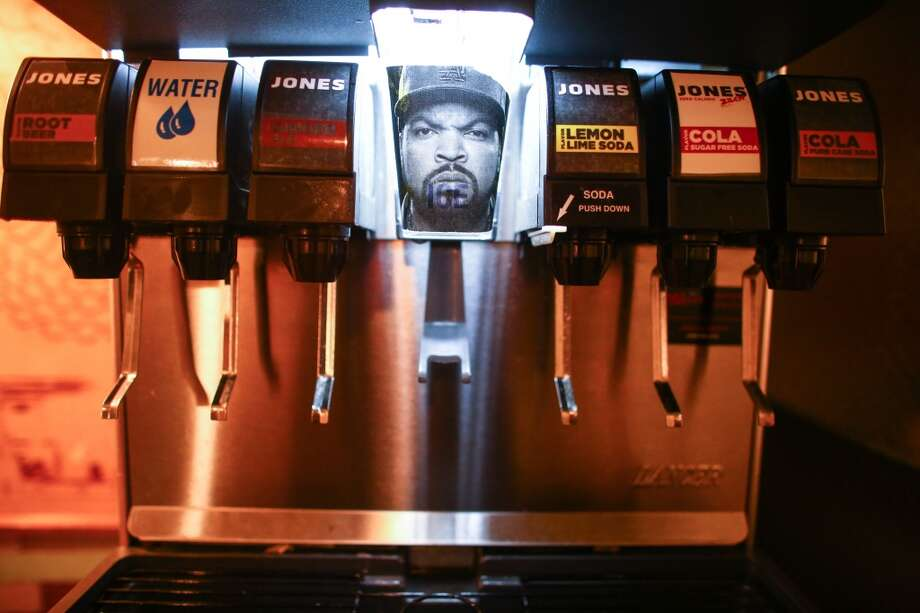 Glaze Teriyaki on West 56th Street in New York City features Seattle-based Jones Soda, and the coolest Ice Cube dispenser we've ever seen.  (Joshua Trujillo, seattlepi.com) Photo: JOSHUA TRUJILLO, SEATTLEPI.COM