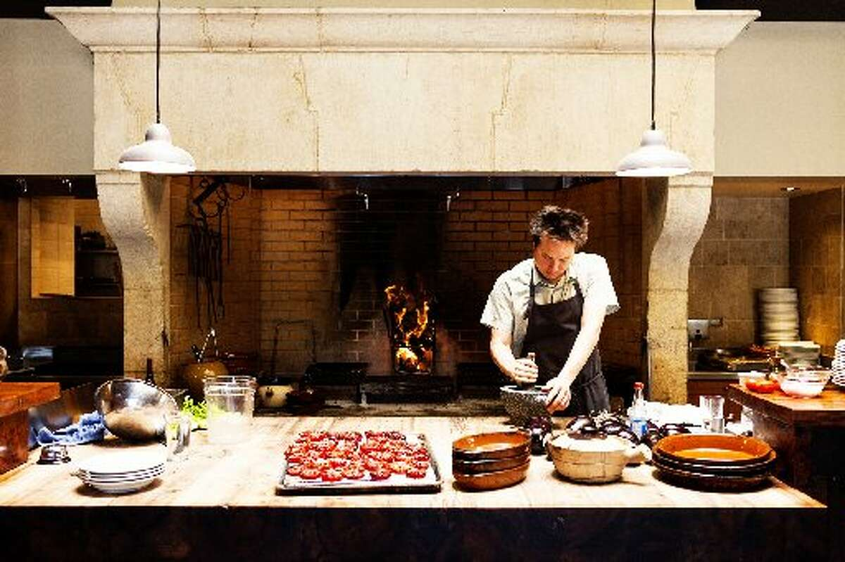 Russell Moore in the Camino kitchen