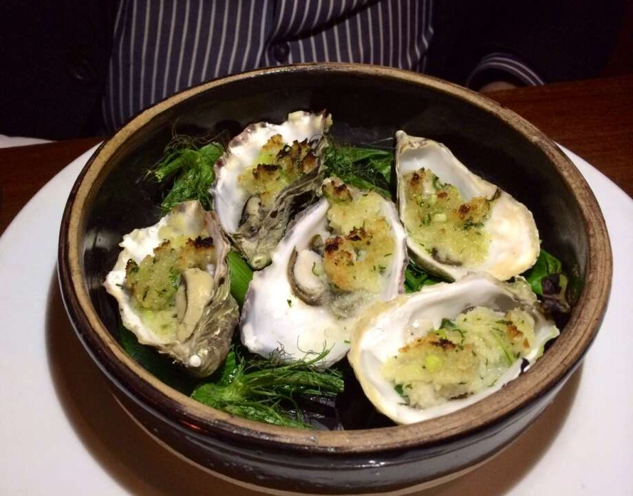 Oysters baked on fennel ($16)