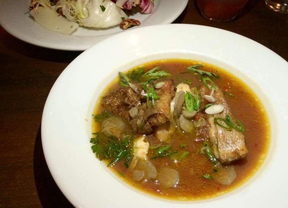 Smoked rockfish stew ($16)