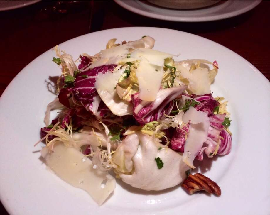Chicory salad with house-made vinegar ($10)