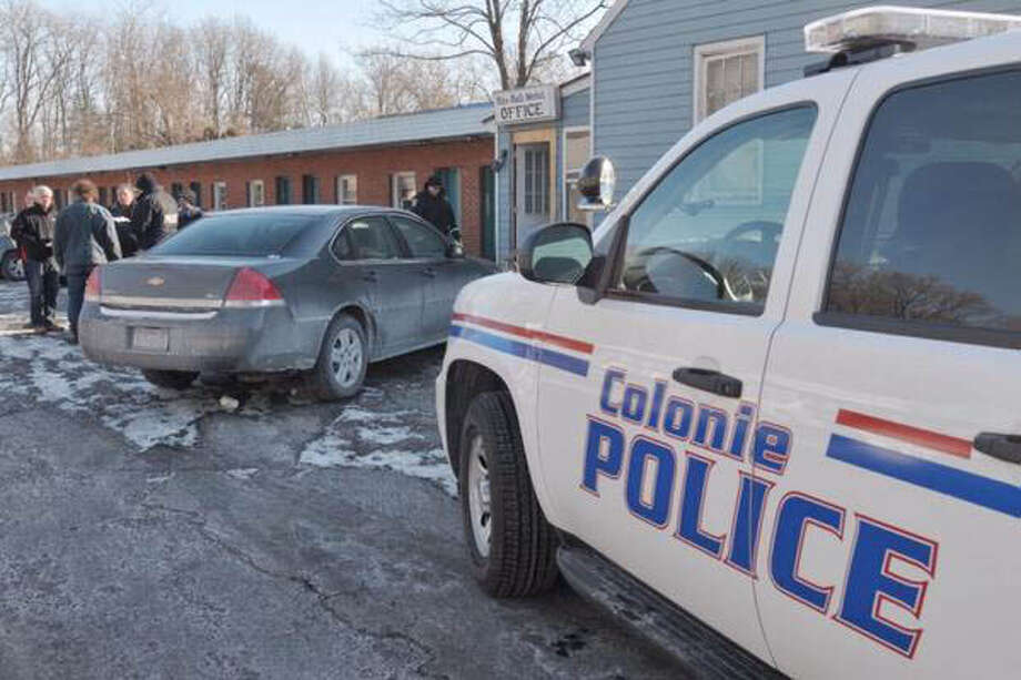 Colonie Police at Blu-Bell Motel Thursday morning Jan. 30, 2014, on Central Ave. in Colonie, N.Y. (Paul Buckowski/Times Union)