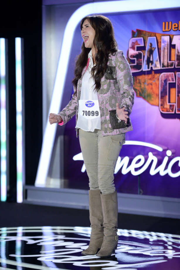 AMERICAN IDOL XIII: Salt Lake City Auditions: Contestant Paisley Van Patten auditions in front of the judges on AMERICAN IDOL XIII airing Wednesday, Jan. 29 (8:00-10:00 PM ET/PT) on FOX. CR: Michael Becker / FOX. Copyright 2014 FOX BROADCASTING.