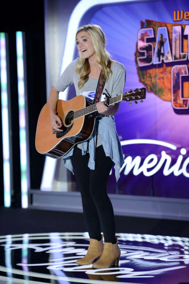 AMERICAN IDOL XIII: Salt Lake City Auditions: Contestant Kenzie Hall auditions in front of the judges on AMERICAN IDOL XIII airing Wednesday, Jan. 29 (8:00-10:00 PM ET/PT) on FOX. CR: Michael Becker / FOX. Copyright 2014 FOX BROADCASTING.