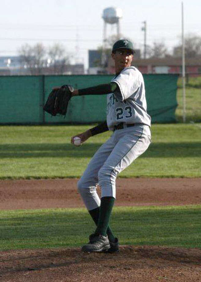 Kaepernick, seen here when he was a pitcher for the Pitman High School baseball team. He once threw a seven-inning no-hitter while sick with pneumonia. Photo: Pitman High School, Courtesy / ONLINE_YES