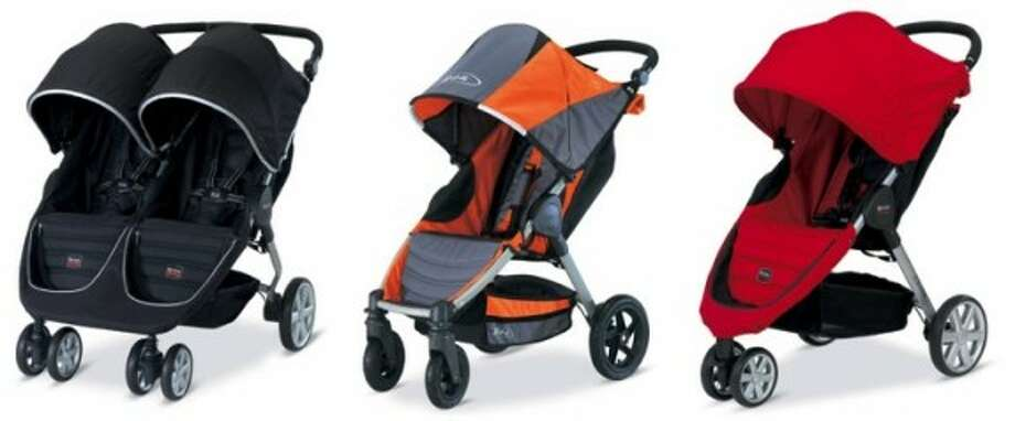 The hinge on these strollers' folding mechanism can partially amputate consumers' fingertips, break their fingers or cause severe lacerations, among other injuries, when they press the release button while pulling on the release strap.