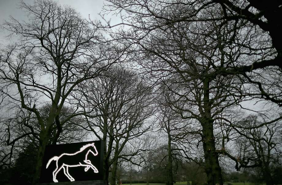 "And speaking of the Year of the Horse ...""Galloping Horse,"" an LED-illuminated work by artist Julian Opie, adorns the landscape at Yorkshire Sculpture Park in Wakefield, United Kingdom. Photo: Christopher Furlong, Getty Images"
