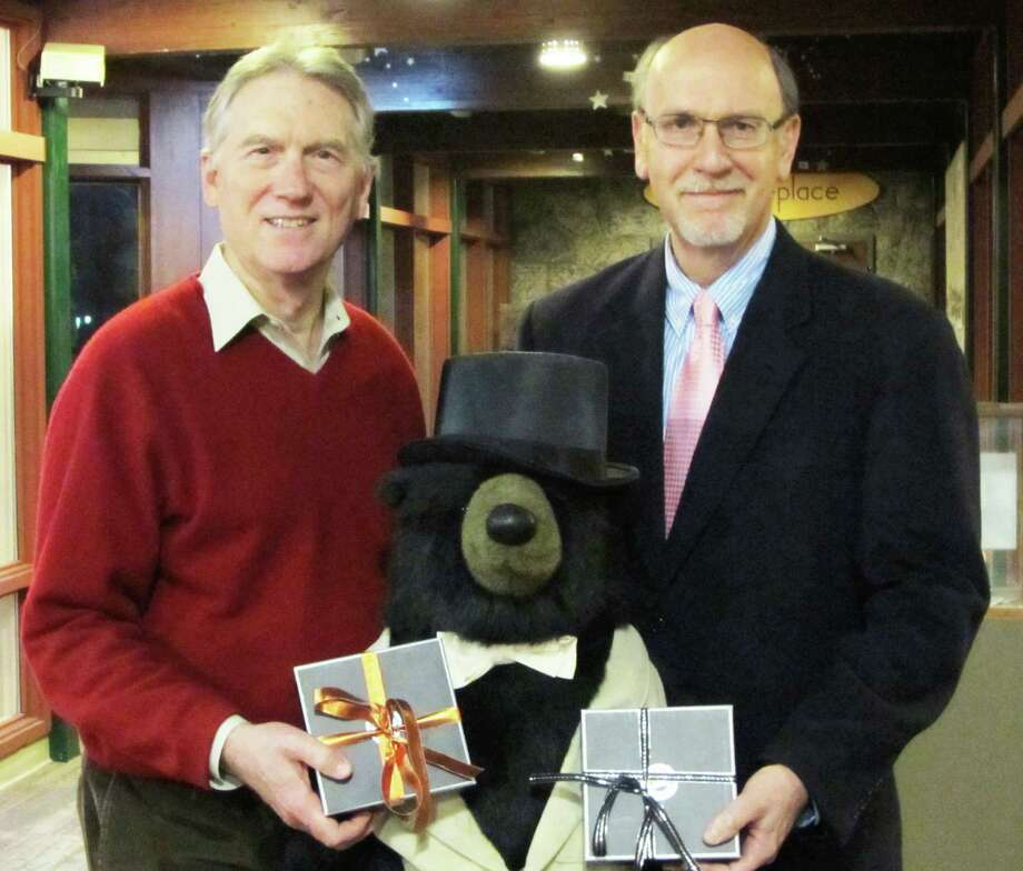 John Hartwell and John Roller were both honored as Trustee of the Year by Earthplace. Photo: Contributed Photo / Westport News