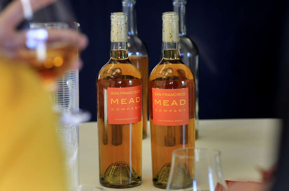 Bottles of mead are displayed on a table before a recent tasting Sunday January 5, 2014 in San Francisco, Calif. The San Francisco Mead Company is making and producing high quality mead in the Bayview district. Photo: Brant Ward, The Chronicle