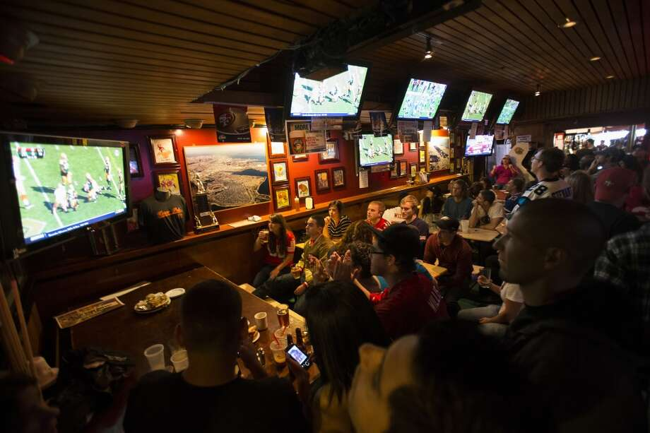 The Bay Area is full of great bars (and not-so-great ones) that will be showing the Super Bowl on Sunday. Whether you want to watch the big game with scores of strangers or in the comfort of your own home (but with good food), here are some suggestions for Super Bowl Sunday.   First up, some of our favorite S.F. sports bars: Kezar Pub is a classic sports bar with great wings. 770 Stanyan St., S.F. (415) 386-9292 Photo: Stephen Lam, Special To The Chronicle