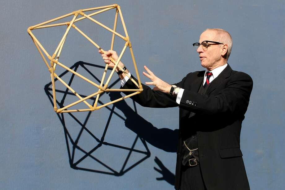 Ron Campbell says R. Buckminster Fuller picks up the audience and shows them our world. Photo: Ana Zavala