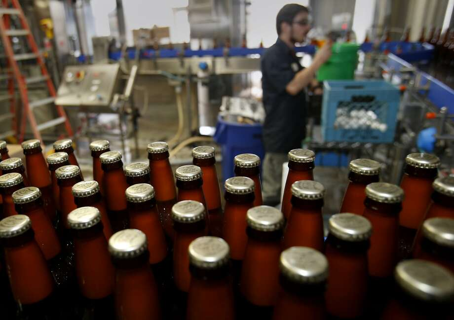 The Bear Republic brewery is noted for its Racer 5 IPA, and it wants to expand production of it and other craft beers. Photo: Brant Ward, The Chronicle