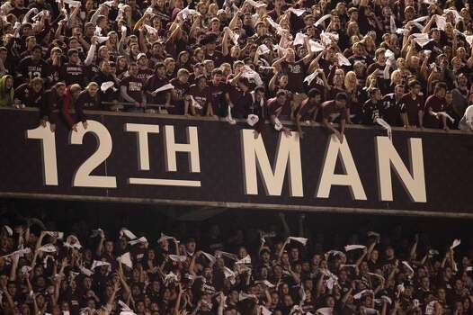 The 12th Man he entire student body at A&M is the Twelfth Man, and they stand during the entire game to show their support. The 12th Man is always in the stands waiting to be called upon if needed. Photo: Karen Warren, Chronicle