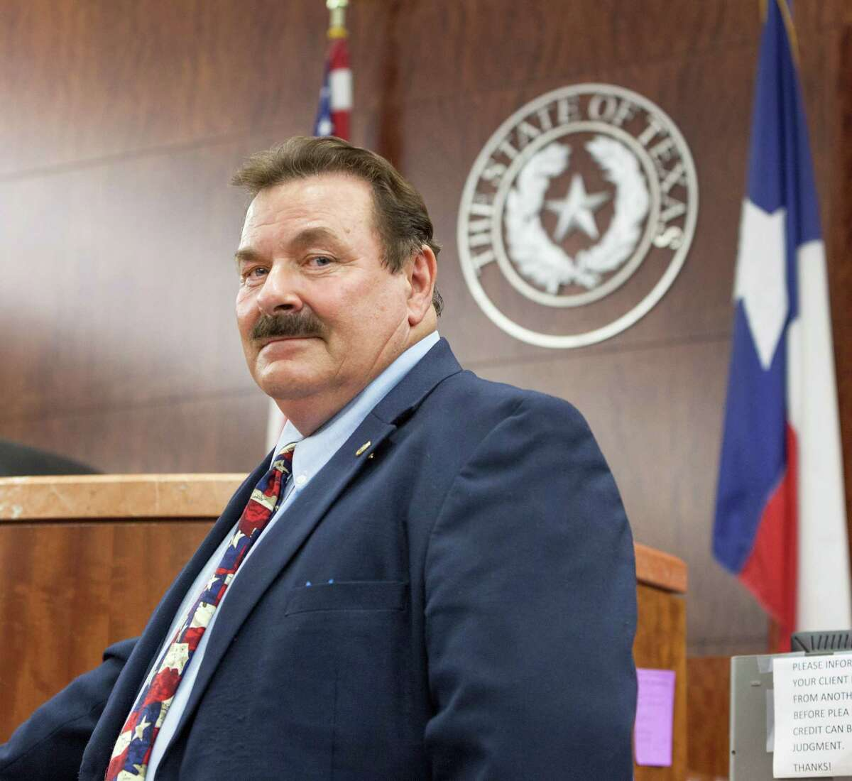 Perennial judicial candidate Lloyd Oliver is again seeking the Democratic nomination for Harris County District Attorney. Shot in courtroom in Harris County Criminal Justice Center, 1201 Franklin Street. Wednesday 5/30/12 (Craig H. Hartley/For the Chronicle)