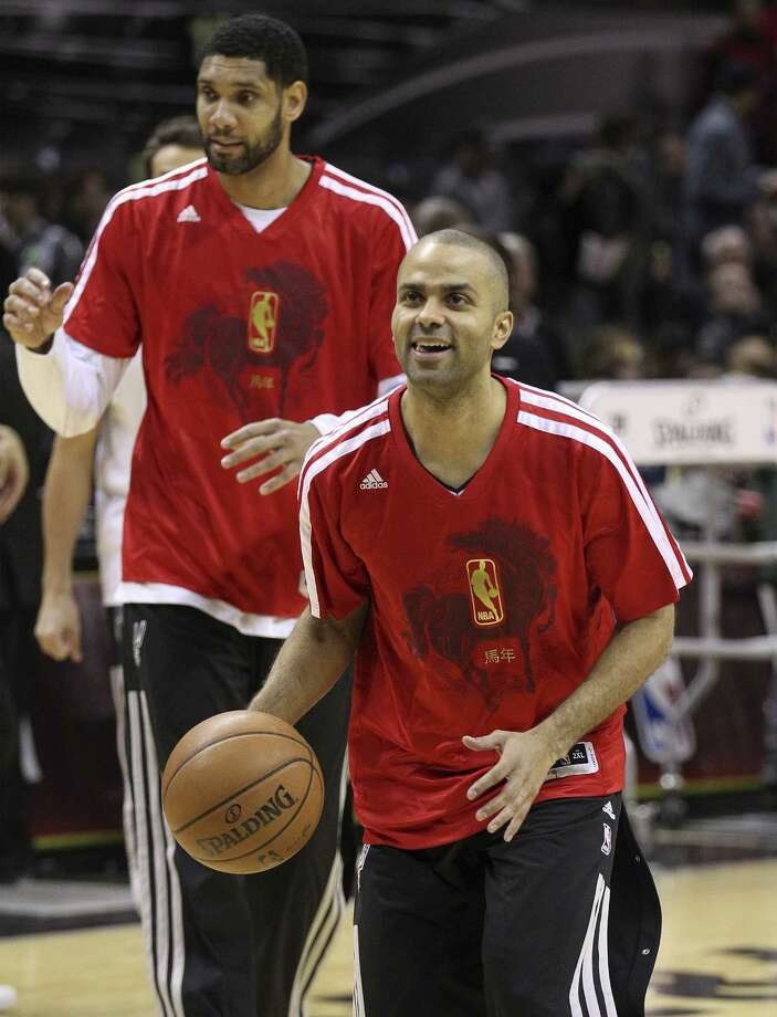 Tony Parker gave the Spurs an All-Star representative for the 16th straight year. Tim Duncan was denied a slot for only the second time. Photo: Kin Man Hui / San Antonio Express-News / ©2013 San Antonio Express-News
