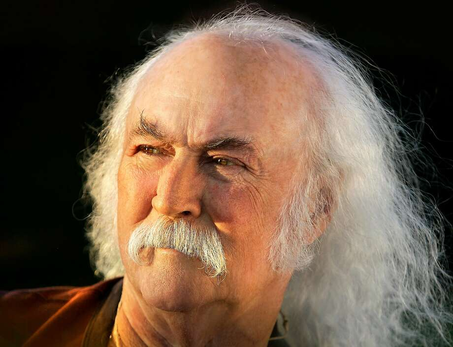 "Rock and Roll Hall of Famer David Crosby recorded his first new solo album in 20 years, ""Croz,"" with his son James Raymond. Photo: Blue Castle"