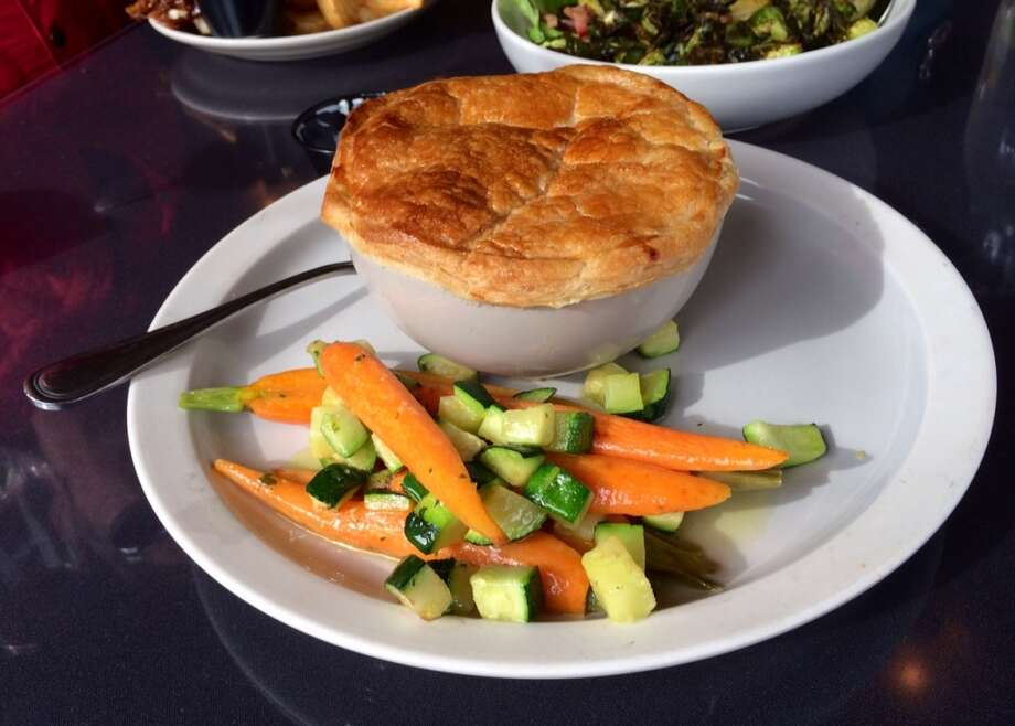 Chicken pot pie at the Hotel Sutter in Sutter Creek ($12)