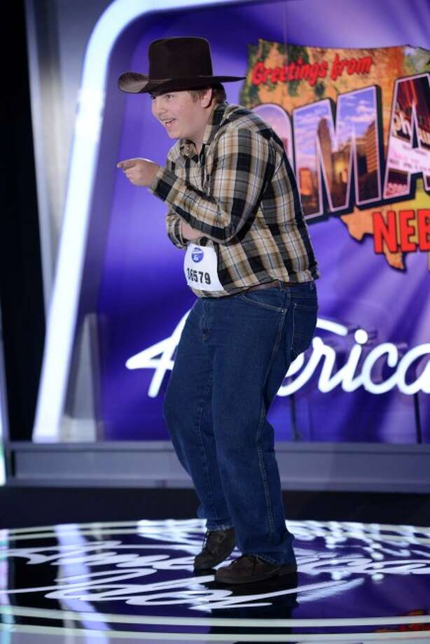AMERICAN IDOL XIII: Omaha Auditions: Contestant Simon Hauck auditions in front of the judges on AMERICAN IDOL XIII airing Thursday, Jan. 30 (8:00-10:00 PM ET/PT) on FOX. CR: Michael Becker / FOX. Copyright 2014 FOX BROADCASTING.