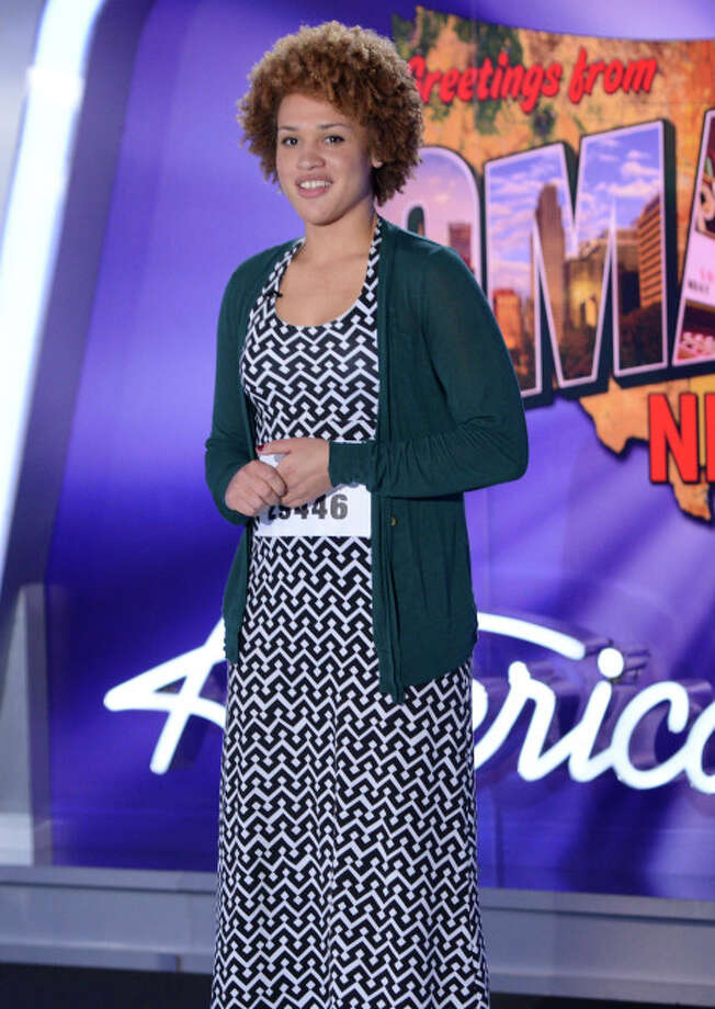 AMERICAN IDOL XIII: Omaha Auditions: Contestant Andrina Brogden auditions in front of the judges on AMERICAN IDOL XIII airing Thursday, Jan. 30 (8:00-10:00 PM ET/PT) on FOX. CR: Michael Becker / FOX. Copyright 2014 FOX BROADCASTING.