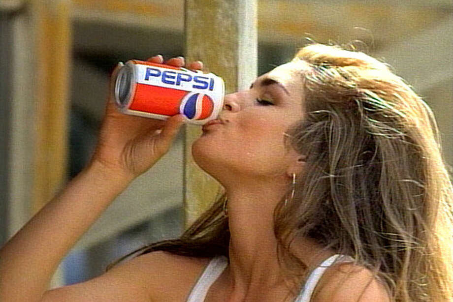 "Cindy Crawford: Back in 1992, the supermodel turned heads as the ""Pepsi Girl."" Watch it here. Photo: Pepsi / Pepsi"