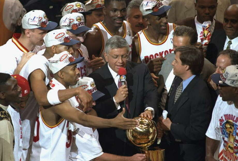 Both of the Houston Rockets' NBA Championships were won during Stern's tenure. All four of the San Antonio Spurs' titles were won under his reign and the Dallas Mavericks won their one and only title during Stern's run as commissioner. Photo: Phil Huber, Sports Illustrated/Getty Images / 1995 Sports Illustrated
