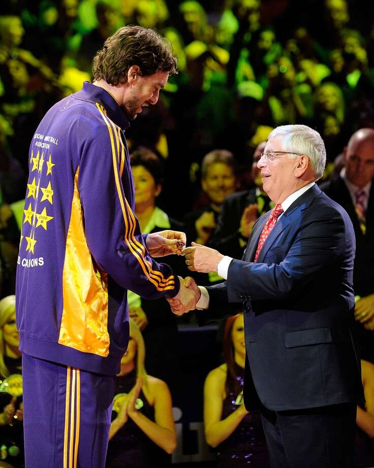 "In 2011, Stern vetoed a three-team trade that would have sent Chris Paul to the Lakers, Lamar Odom to the league-owned Hornets and Pau Gasol to the Rockets for what a spokesman would only say were ""basketball reasons"". Photo: Kevork Djansezian, Getty Images"