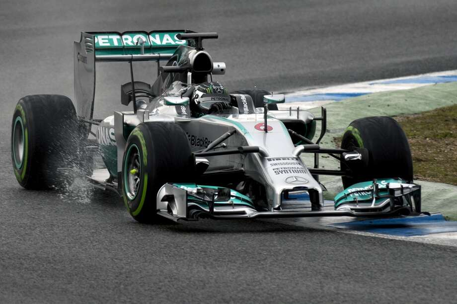 Mercedes' German Nico Rosberg takes part in the Formula One pre-season test days at Jerez racetrack in Jerez. Photo: JORGE GUERRERO, AFP/Getty Images