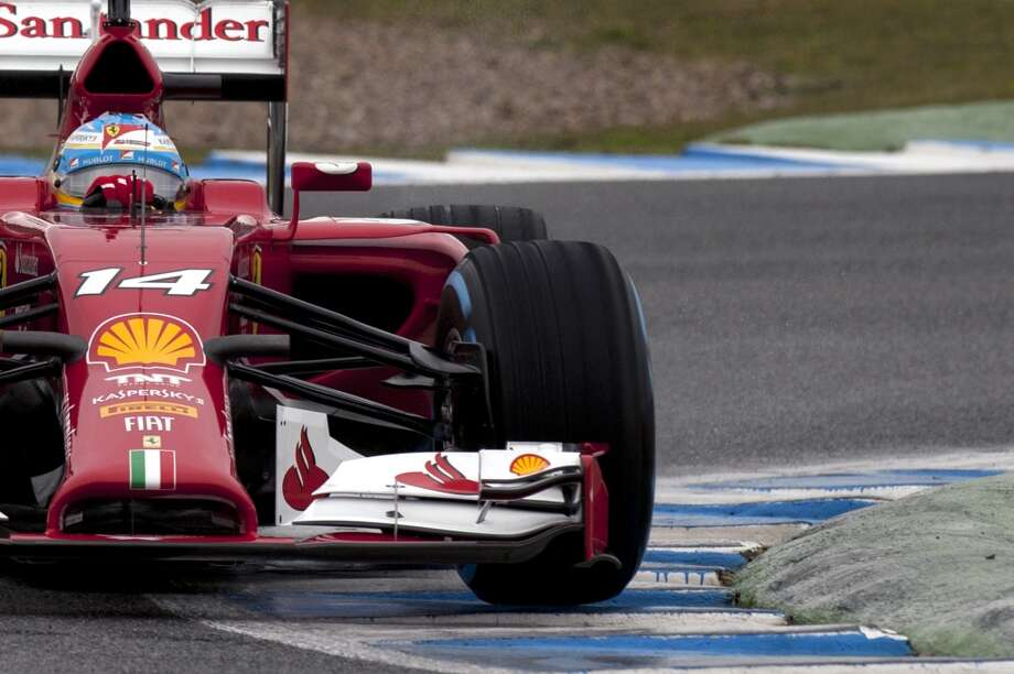 Ferrari spanish driver Fernando Alonso driver takes part in the Formula One pre-season test days at Jerez racetrack in Jerez. Photo: JORGE GUERRERO, AFP/Getty Images